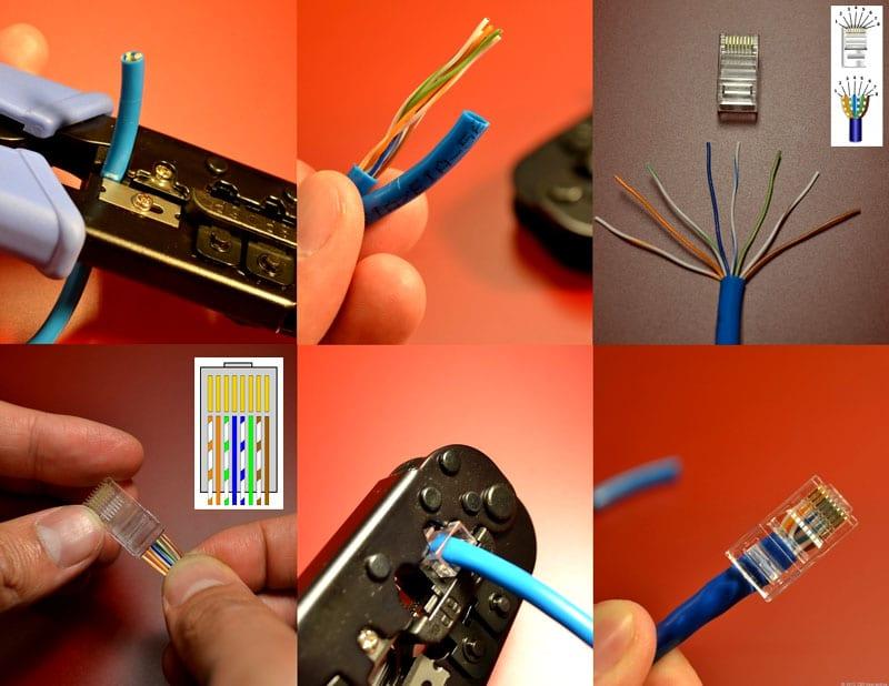Как правильно обжать сетевой кабель