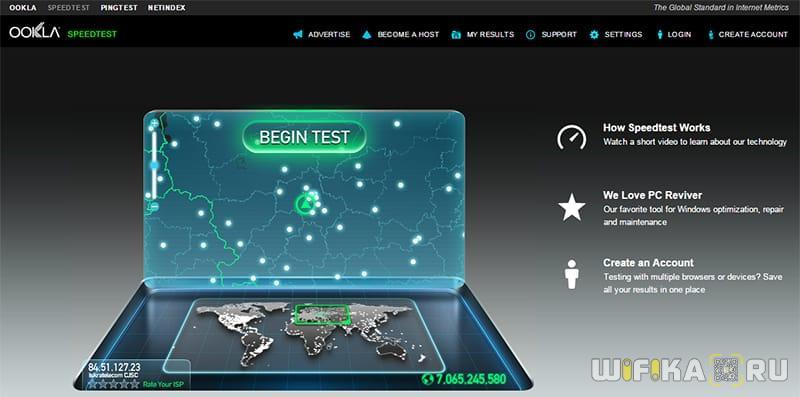 скорость интернета wifi