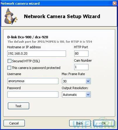Настройка ip камеры в webcam xp
