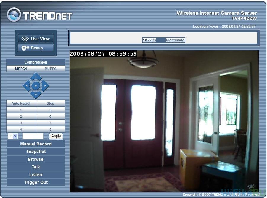 Trendnet live view