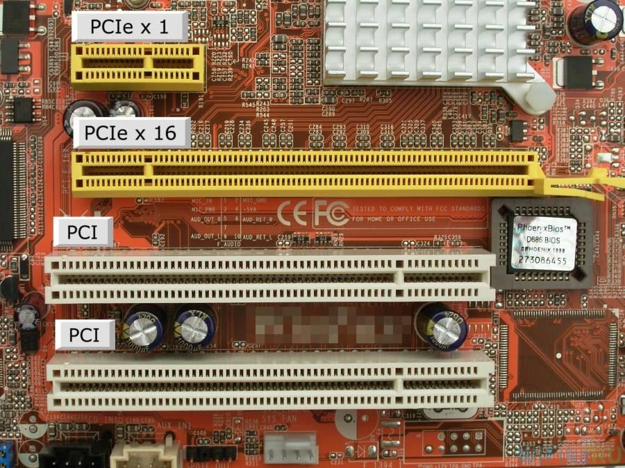 Слоты PCI и PCI Express