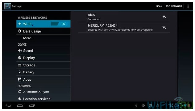 Подключение android tv box к интернету по wifi