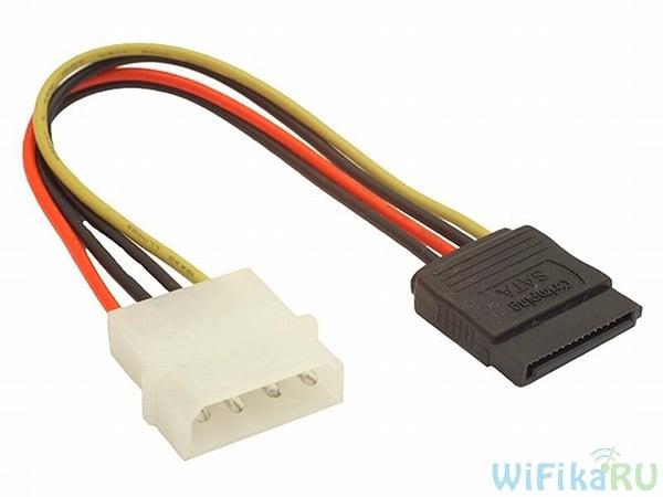 molex-sata адаптер для второго жесткого диска