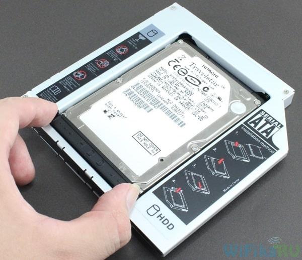 установка 2 жесткого диска в адаптер