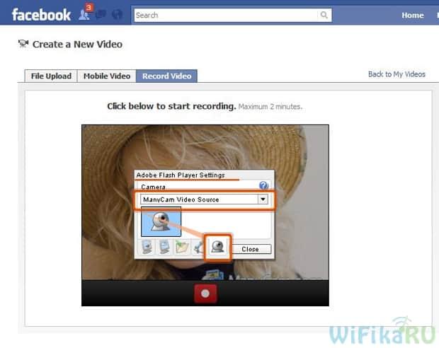 facebook manycam