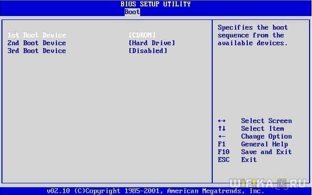 как установить windows с диска