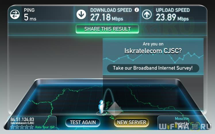 speedtest по wifi