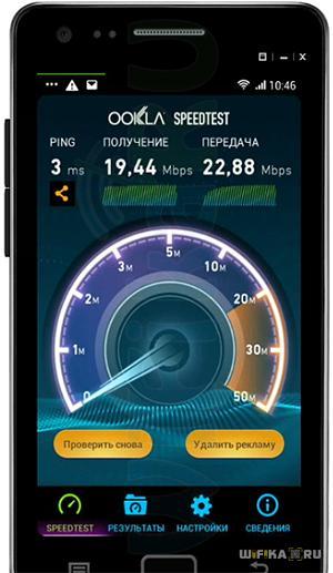 speedtest скорость раздачи кабельного интернета по wifi
