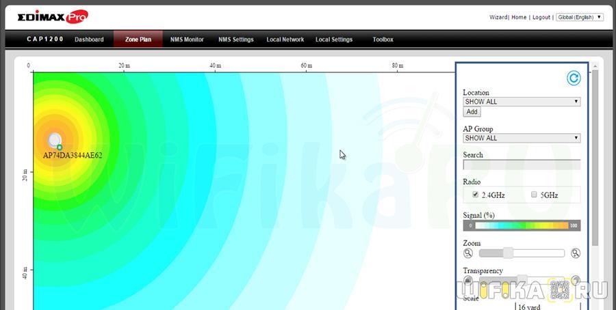 карта покрытия сети edimax
