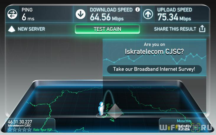 скорость по кабелю