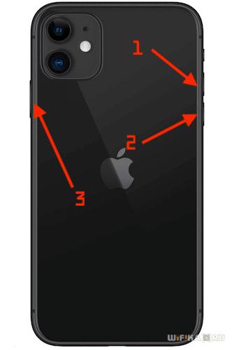 перезагрузка iphone 11