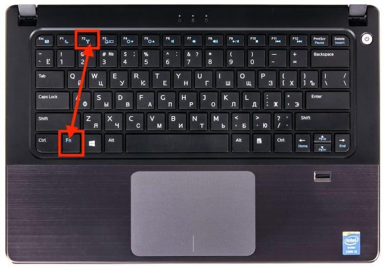 клавиша включения wifi hp