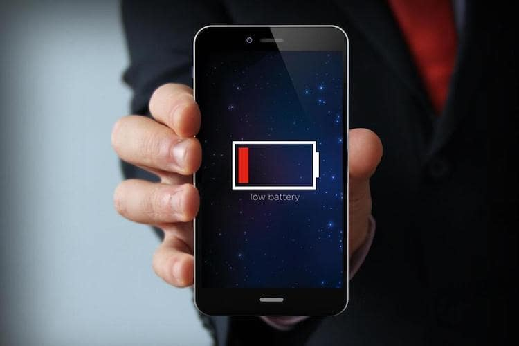 смартфон разряжен