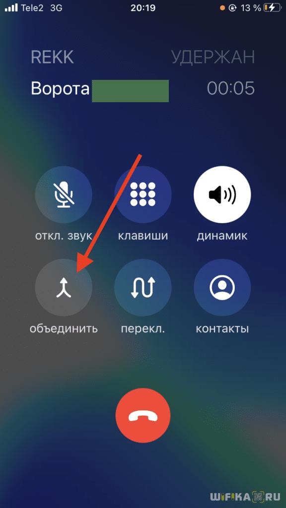 Объединение звонков